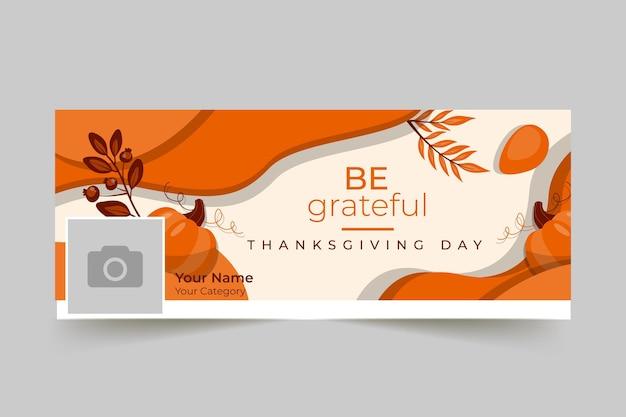 Capa do facebook do dia de ação de graças