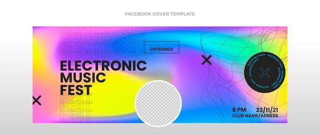 Capa do facebook do festival de música de textura gradiente