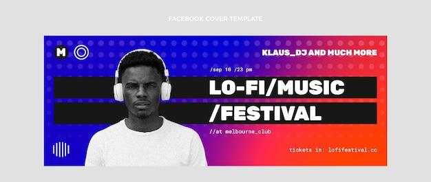 Capa do facebook do festival de música gradiente em meio-tom