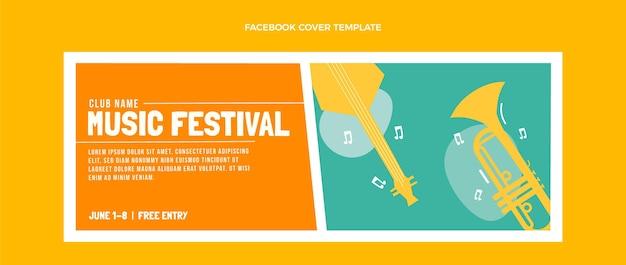Capa do facebook do flat minimal music festival