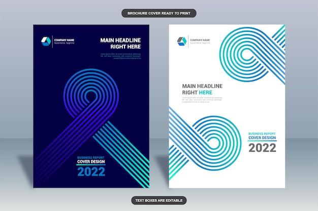 Capa do folheto de negócios da modern lines