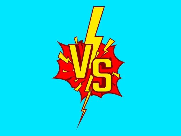 Capa do jogo versus, banner sport vs, conceito de equipe