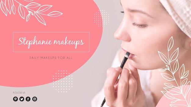 Capa do youtube de maquiagem