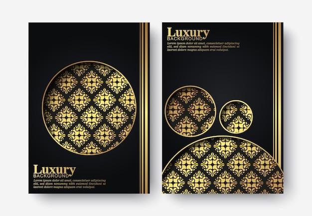 Capa escura luxuosa em estilo textural