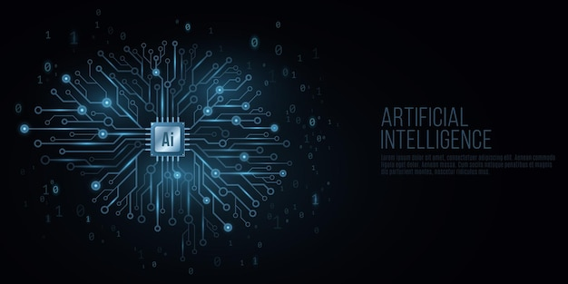 Capa futurista para inteligência artificial.