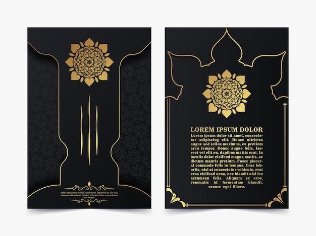 Capa islâmica luxuosa com conceito de mandala