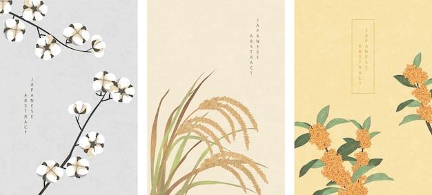 Capa natural de estilo oriental japonês