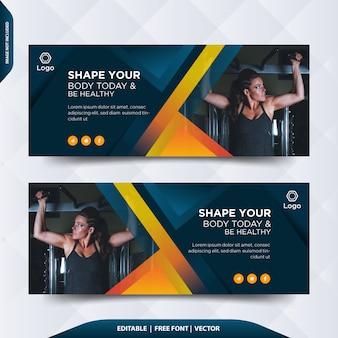 Capa ou cabeçalho do facebook para fitness