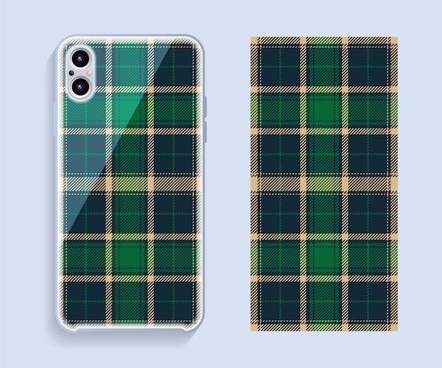 Capa para celular. padrão de caso de smartphone modelo.