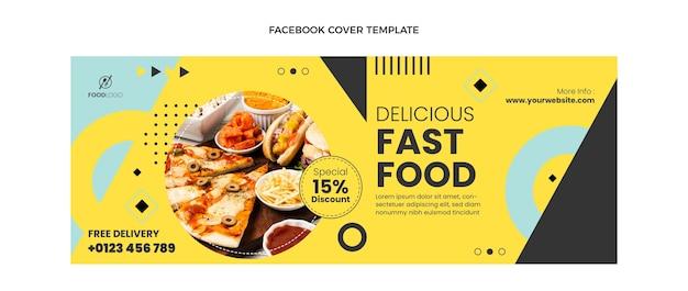 Capa plana do facebook de fast food