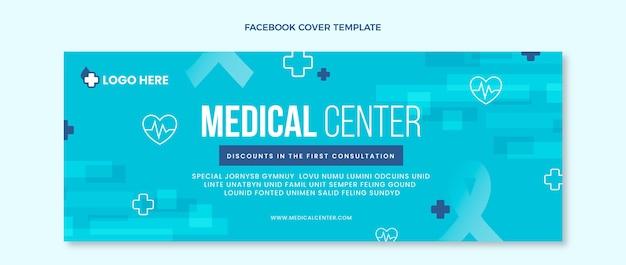 Capa plana médica do facebook