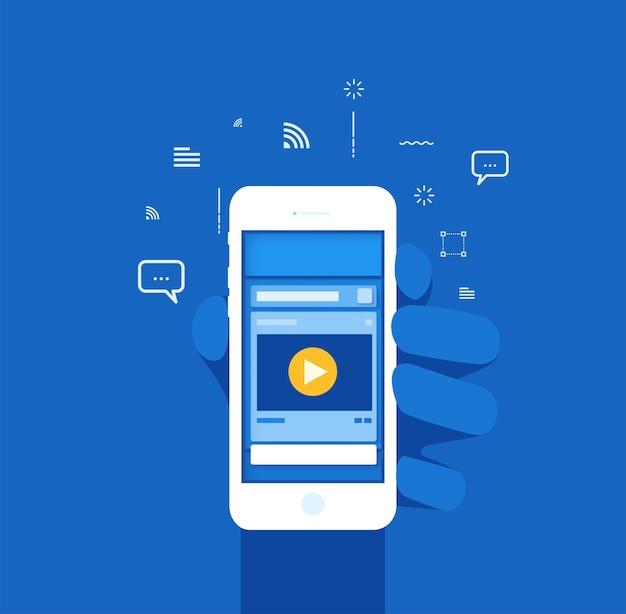 Capa popup de layout de mídia social com tom de cor azul