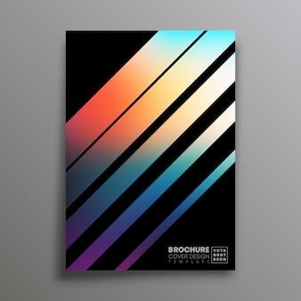 Capa retrô com listras coloridas gradientes