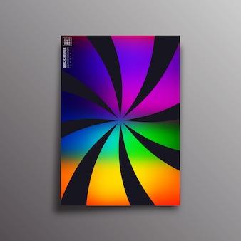 Capa retrô com raios de roda gradientes coloridos