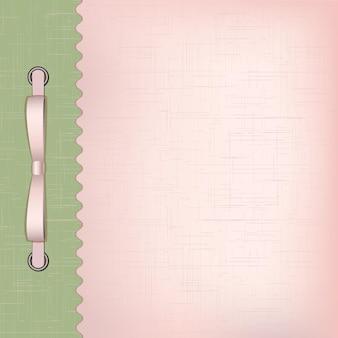 Capa rosa para álbum com fotos. ilustração vetorial