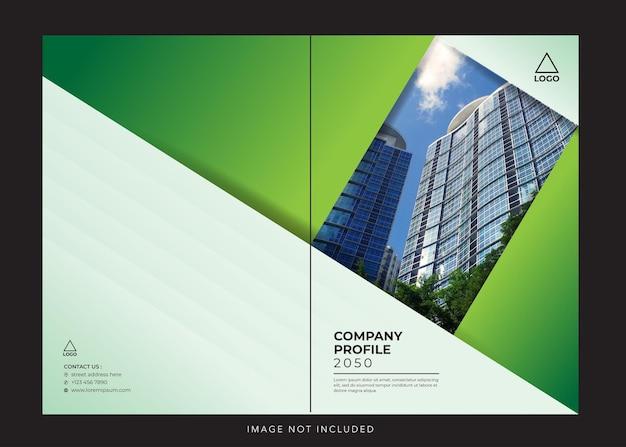 Capa verde do perfil corporativo da empresa