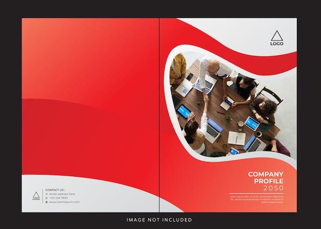 Capa vermelha branca do perfil da empresa corporativa