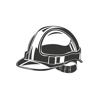 Capacete, construção de capacete de segurança, sob vetor de construção