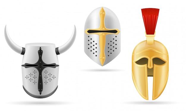 Capacete de batalha medieval