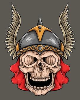Capacete de caveira viking