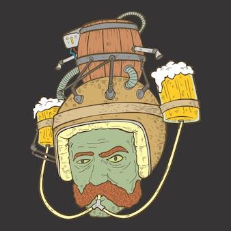 Capacete de cerveja