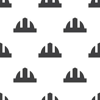 Capacete de construção, padrão sem emenda de vetor, editável pode ser usado para planos de fundo de páginas da web, preenchimentos de padrão