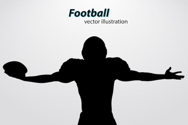 Capacete de futebol e silhueta de mão