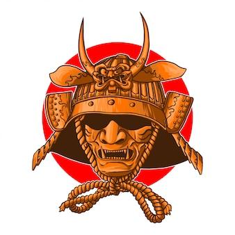 Capacete de guerra samurai