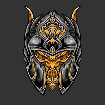 Capacete de guerreiro cavaleiro