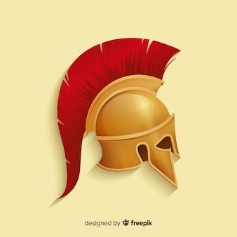 Capacete de guerreiro espartano