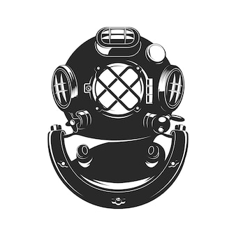 Capacete de mergulhador de estilo vintage