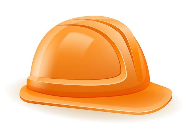 Capacete de plástico para proteger a cabeça em construção ou reparo