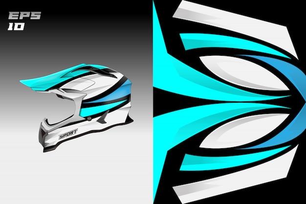 Capacete decalque envoltório projeta desenhos de libré de vetor