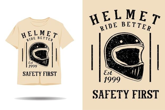 Capacete passeio com design de camiseta com silhueta melhor