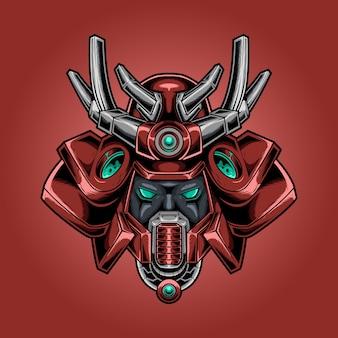 Capacete robótico samurai head