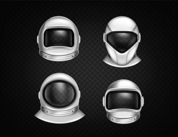 Capacetes de astronauta para exploração espacial