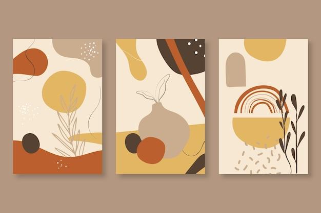 Capas abstratas formas desenhadas à mão