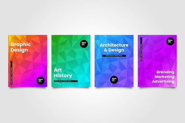Capas coloridas abstratas de vários domínios
