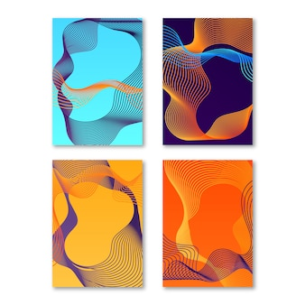 Capas coloridas abstratas