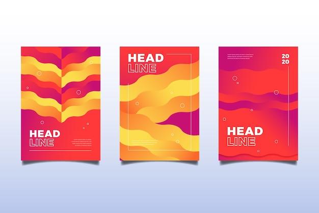 Capas coloridas onduladas abstratas