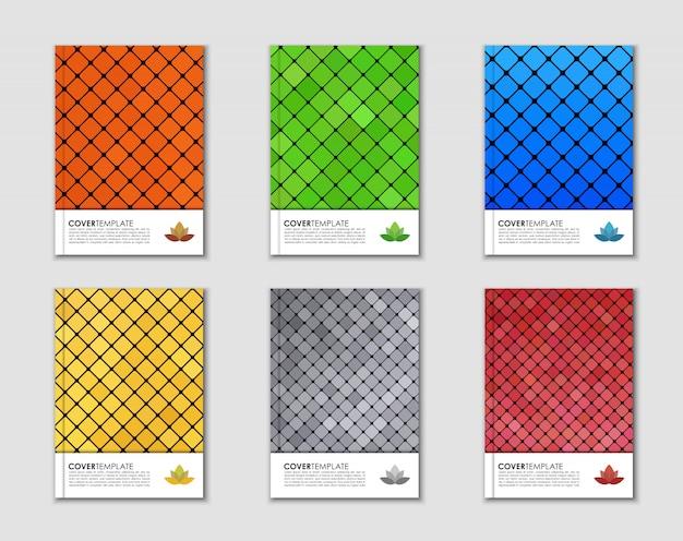 Capas com textura mosaico