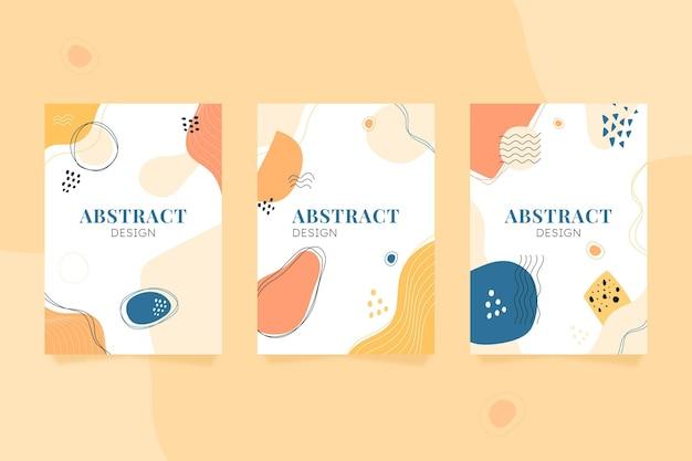 Capas de formas abstratas desenhadas à mão
