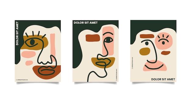 Capas de formas abstratas mão desenhada