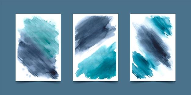 Capas de formas em aquarela