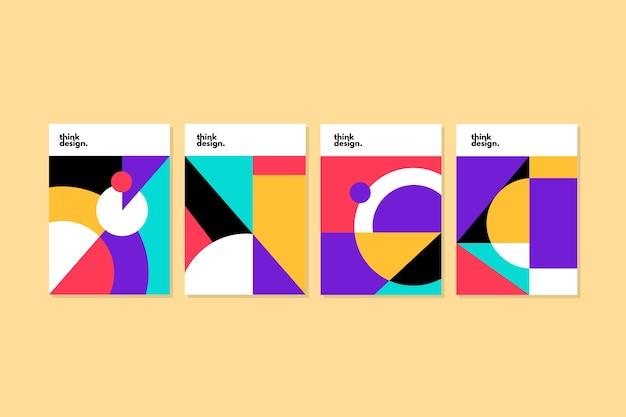 Capas de formas geométricas abstratas