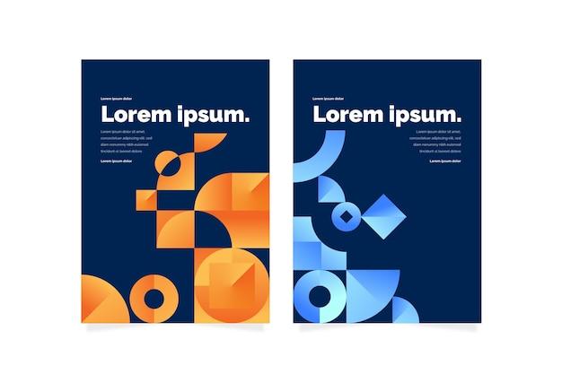 Capas de formas geométricas gradientes