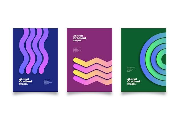 Capas de formas gradientes abstratas