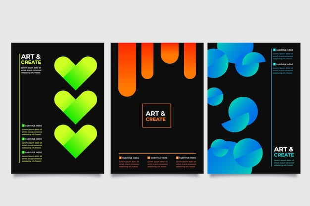 Capas de formas gradientes no conceito de papel de parede escuro