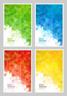 Capas de gradiente geométricas abstratas.