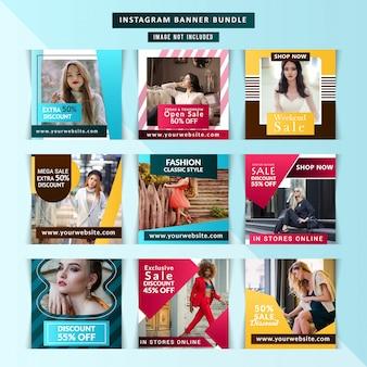 Capas de instagram de negócios de marketing